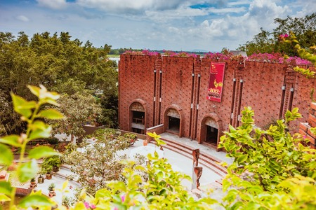 HOI AN, VIETNAM - MARCH 19, 2017: Terra cotta museum in the Thanh Ha Pottery Village. The village was formed at the end of the 15th century, by the Thu Bon river, Quang Nam, Vietnam.