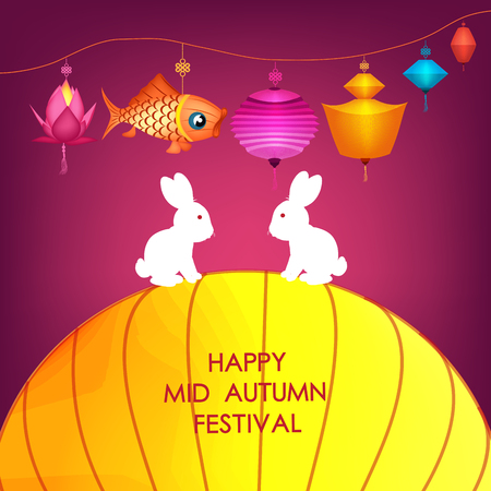 traditonal: Moon rabbits for celebration Mid Autumn Festival