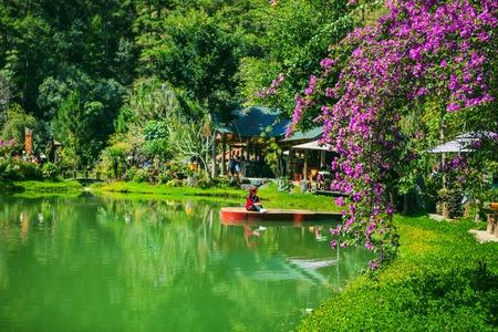 DALAT, VIETNAM - February 17, 2017: Homestay Ma Rung Lu Quan at Da Lat, Lam Dong, Viet Nam