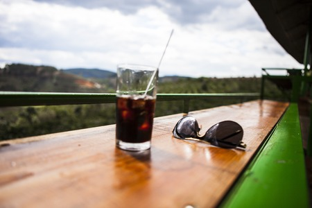 私リン コーヒー、ダラット、ベトナムからベトナム ・ ダラット - 2017 年 2 月 17 日: 素敵な風景の眺め。 報道画像