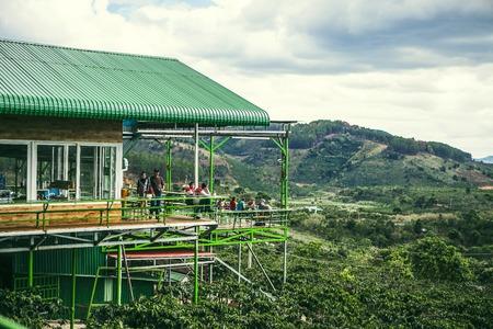 dalat: DALAT, VIETNAM - February 17, 2017: Nice landscape view from Me Linh coffee, Da Lat, Viet Nam. Editorial