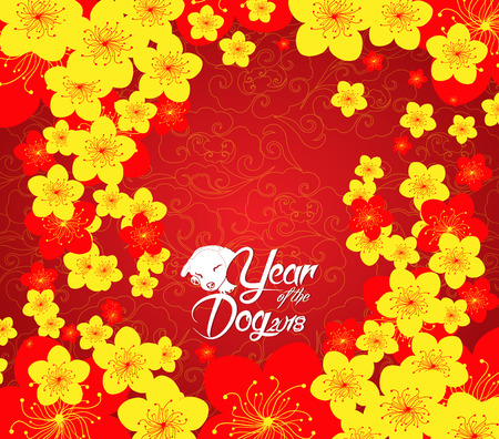 chinese new year template background. Year of the dog