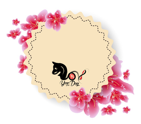 Spring sale banner design with sakura blossom.