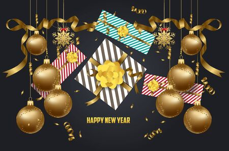 calendar design: 2018 Happy New Year banner.