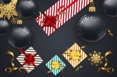 calendar design: Gifts and Christmas decorations icon.