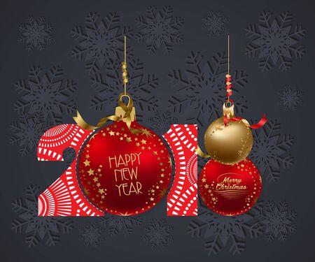 calendar design: Happy New Year 2018 background