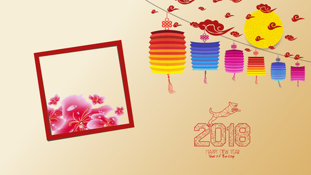 Chinese new year 2018 with blossom wallpapers