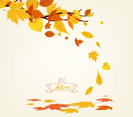 Vector Illustration of an Autumn Design Иллюстрация