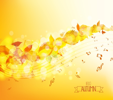 Autumn leaves background. Illustration