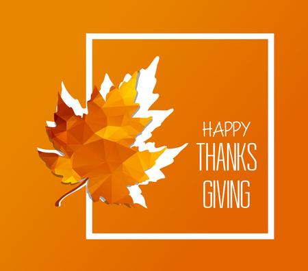 Happy Thanksgiving Day. Autumn new season Vector Illustration