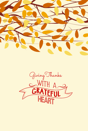 Happy Thanksgiving Day. Autumn leaves background Stock Illustratie