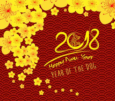 Chinees nieuw jaar 2018-malplaatjepatroon