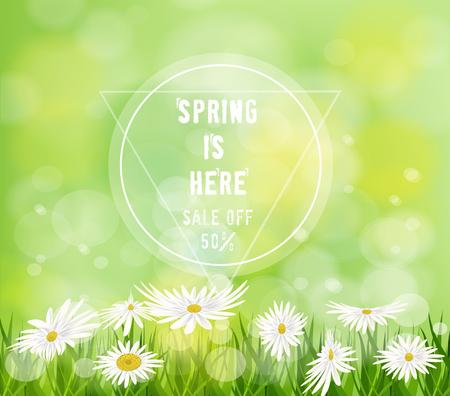 Spring Floral Background Invitation 矢量图像