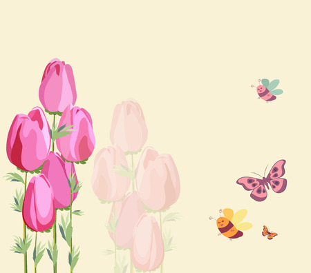 Springs flowers background Иллюстрация