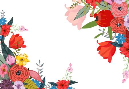Flowers, Floral. Pretty Flowers, wedding Ilustrace