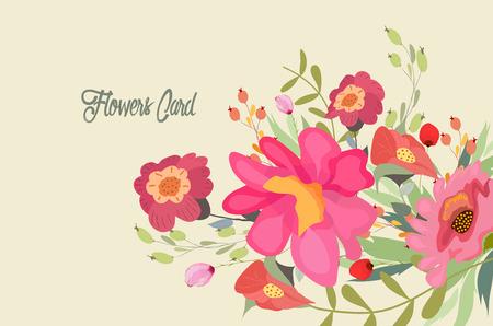 Flowers, Floral. Pretty Flowers, wedding Ilustração