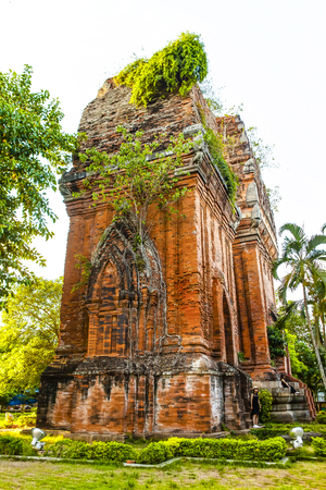 Twin towers - an ancient architecture of Cham, Quy Nhon, Viet Nam