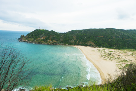 Beautiful Vietnam landscape, amazing and wonderful beach with mountain around, fresh air, nice view for Asian travel, ecology environment at sea area, Phu Yen have many scene for tourist at Viet Nam