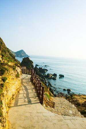 Landscape of Eo Gio bay in Qui Nhon Vietnam Banco de Imagens