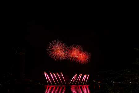 fireworks in honor of Independence Day 免版税图像