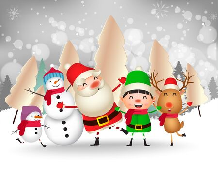 Merry Christmas and Happy New Year. Merry christmas santa claus and kid funny