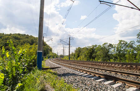 The railroad - the operating two-acceptable electrified way photo