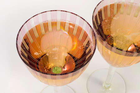 New Years champagne in two wine glasses photo