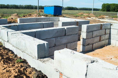 cornerstone: Initial works on construction of the house