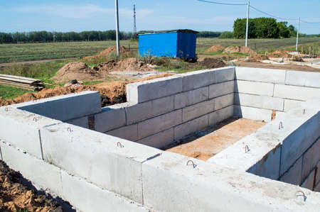 Initial works on construction of the house