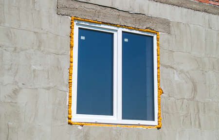 without window: The window from plastic without final finishing