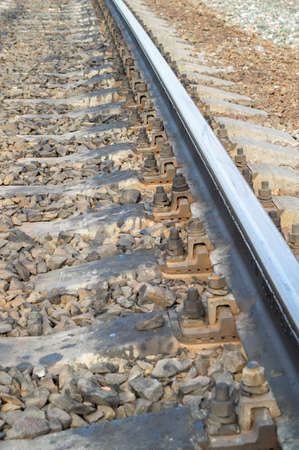 cross ties: Steel railway rails, concrete cross ties, gravel