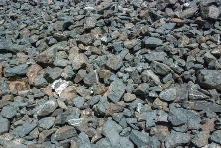 calcareous: Calcareous crushed stone of gray color of the different size Stock Photo