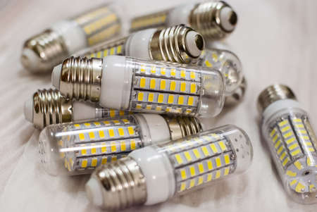 Several LED lighting lamps with E27 socle