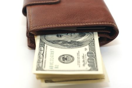 100 dollars in the wallet Stock Photo - 2190189