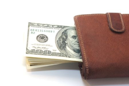 100 dollars in the wallet Stock Photo - 2190195