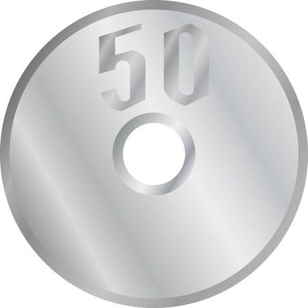 50 yen coin illustration image
