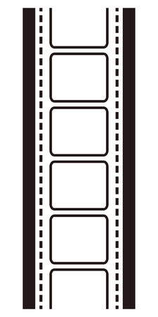 Isolated vector illustration image of filmstrip. 写真素材 - 140930909