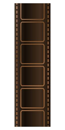 Isolated vector illustration image of filmstrip.