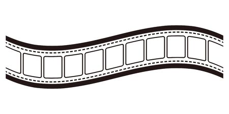 Isolated vector illustration image of filmstrip. 写真素材 - 140930914