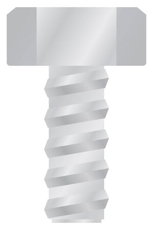 Bolt isolated vector for illustration for industry.