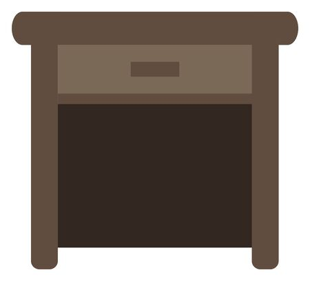 Brown desk isolated vector illustration.  イラスト・ベクター素材