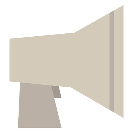 Isolated vector illustration of megaphone. Çizim