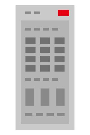Remote controller isolated vector illustration.
