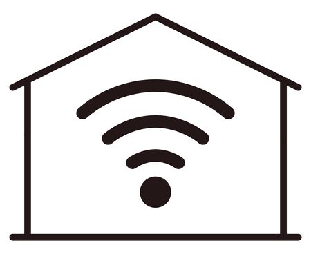 Home network isolated vector illustration