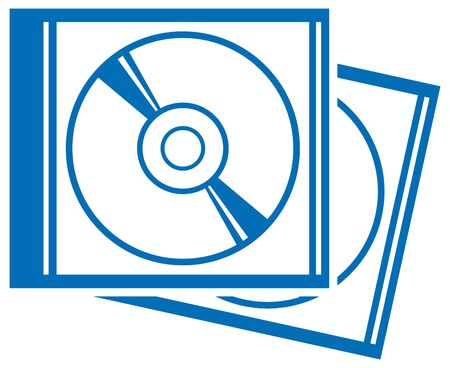 Illustration of simple compact discs