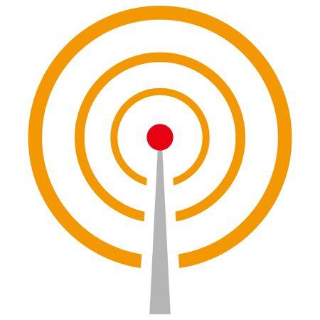 Simple illustration of radio wave