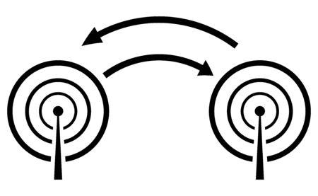 Simple illustration of radio waves