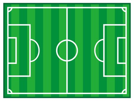 Simple soccer field illustration