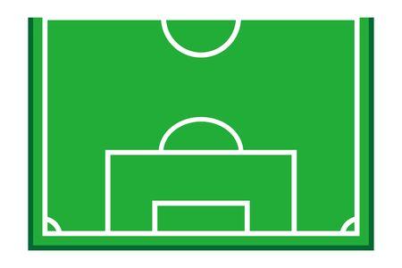 Simple half soccer field illustration