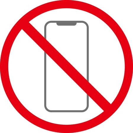 No mobile phone sign isolated vector image.